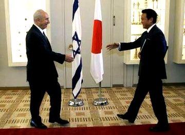 外交タロー:20070813イスラエルのペレス大統領と1