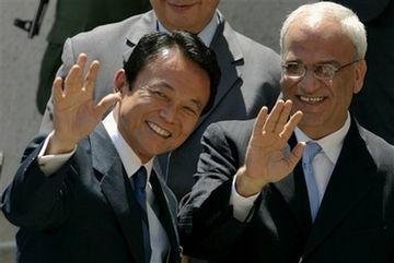 外交タロー:20070815ラマッラのパレスチナ大統領府に到着1