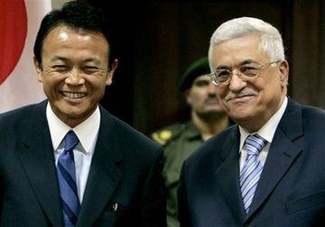 外交タロー:パレスチナのアッバス議長との会談2