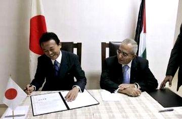 外交タロー:パレスチナのアッバス議長との会談4