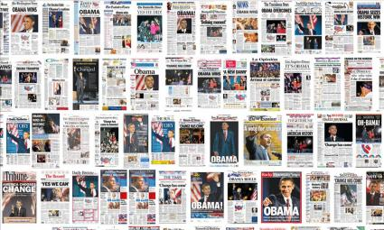 Obama Grabs Headlines - November 5, 2008