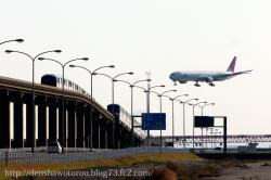 飛行機と東京モノレール