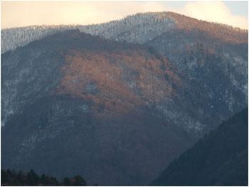 白川郷雪山2