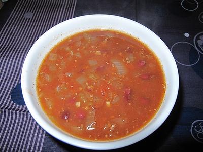 チリコンカルネ風スープ