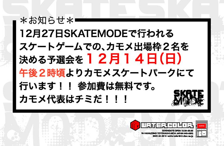SKATEMODE予選0.5