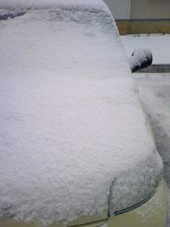 初の雪かき。