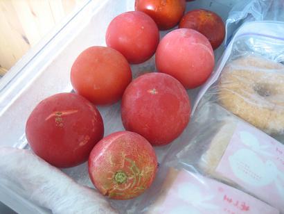 我が家と実家の自家製トマト