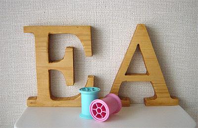 木製アルファベット EA②