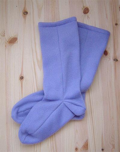 ほっこり靴下・藤色①