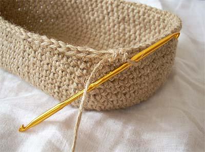 麻ひも編み・途中