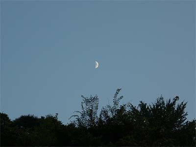 20070820夕焼け時の月