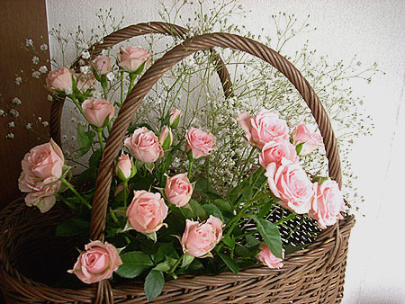 20071125籠に薔薇②