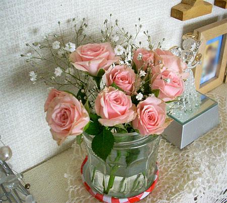 20071125部屋にも薔薇