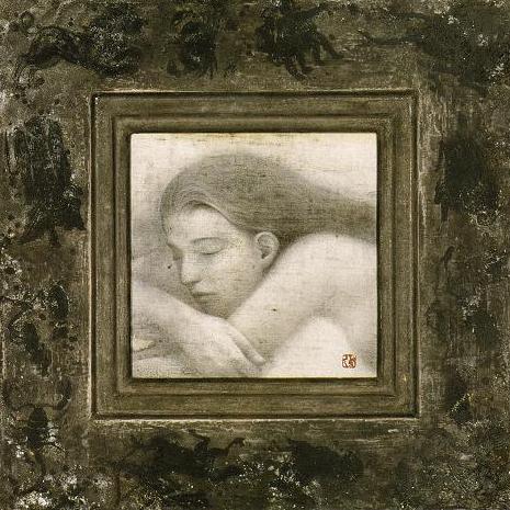 「夜の詩」・38.0×38.0㎝