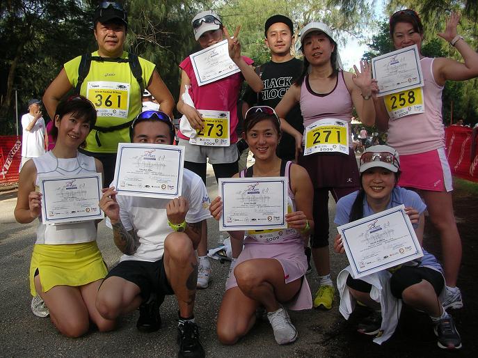 サイパンマラソンゴール後
