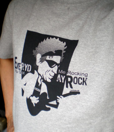 EverydayRock T Shirt Keith Richards Caricature