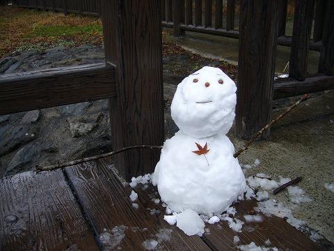 雪ダルマ。