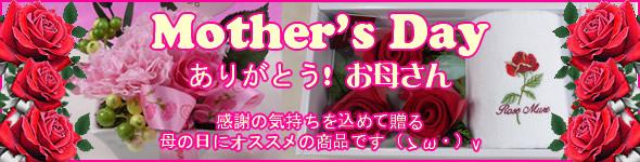 Mother's Day ありがとう!お母さん 感謝の気持ちを込めて贈る、母の日にオススメの商品です(ゝω・)v