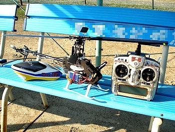 T-REX 450PRO の調整中