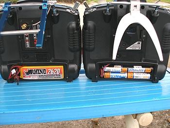 送信機用バッテリー LipoとNi-MH