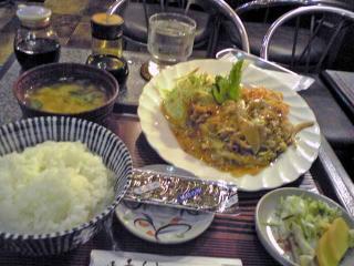 ローズ豚玉定食