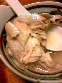 参鶏湯小皿