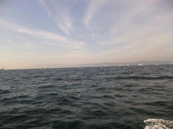 神戸沖到着