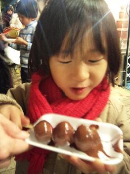 チョコレートマウンテンにご満悦の次男