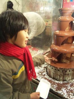 チョコレートマウンテン(長男ご満悦)