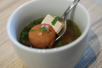 さっぱり梅じそスープ