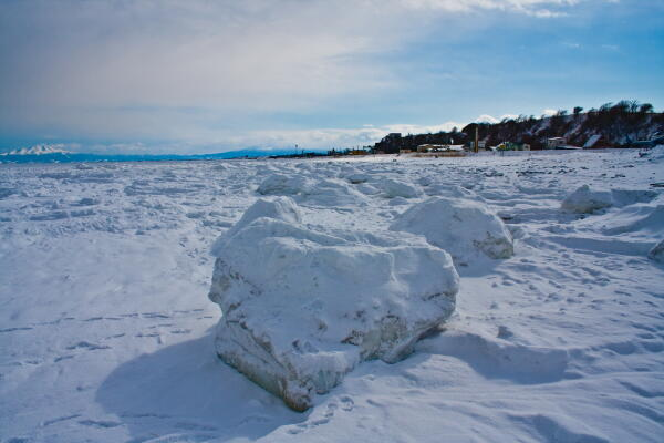 鱒浦海岸の流氷
