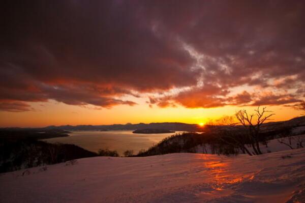 藻琴山からの夕景