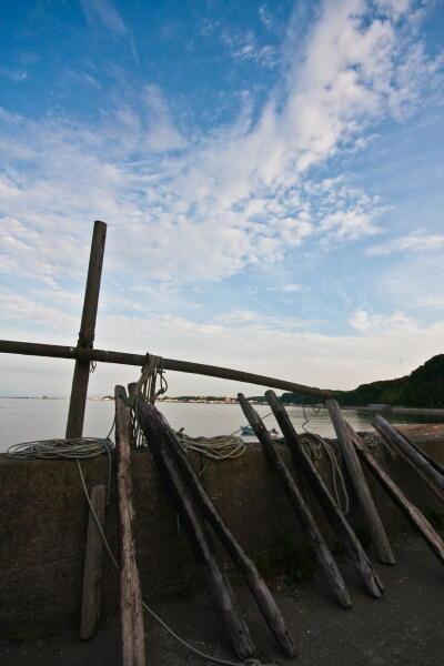 入り江の舟揚場