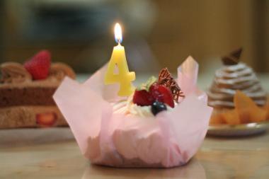 4周年ケーキ