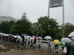 雨だったのに
