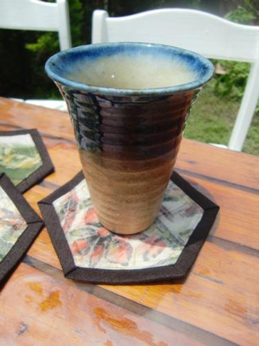 古布コースター陶器