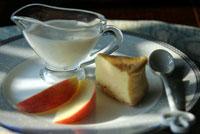 桃のムース&チーズケーキ