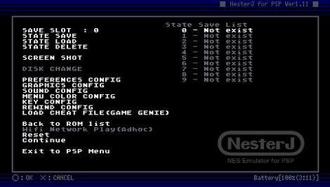 NesterJ NES Emulator 1.11 RM説明3