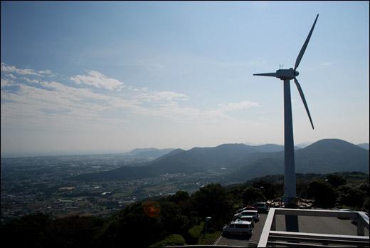 蔵王山展望台からの景観
