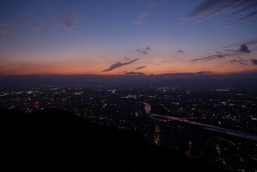 金華山からの夜景