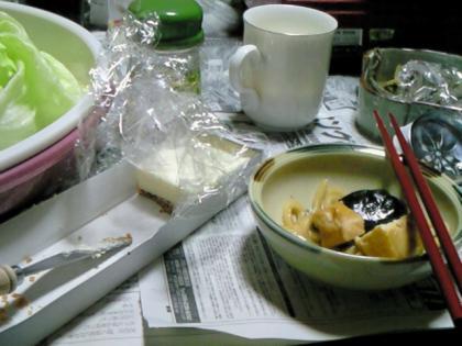 すき焼きとチーズケーキ