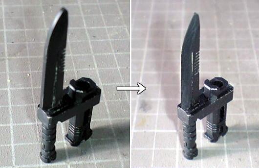 ヒートナイフのシャープ化
