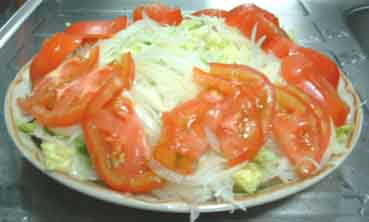 トマト盛りつけ