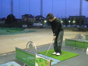 ゴルフ特訓中!!