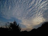 朝のウロコ雲