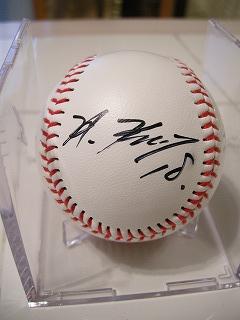 黒田選手のサイン