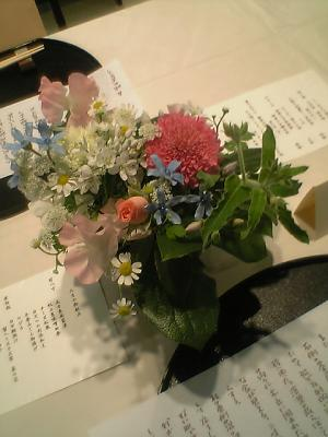 テーブル花♪