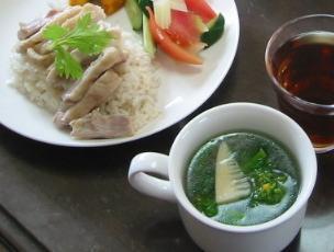 チキンライスとスープ♪