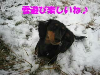 雪遊びって楽しいね