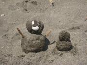 はるるん作 砂の雪だるま